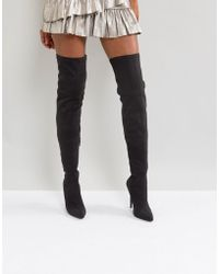 Truffle Collection - Thigh High Stiletto Boot - Lyst