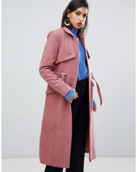 Y.A.S - Belted Wool Coat - Lyst