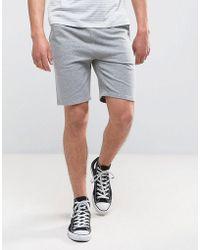ASOS - Jersey Skinny Shorts In Gray Marl - Lyst