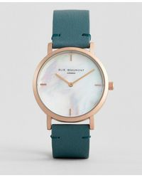 Elie Beaumont - Eb814.1 Watch With Gold Case And Leather Strap - Lyst