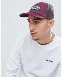 Patagonia - P-6 Logo Lopro Trucker Hat In Purple - Lyst