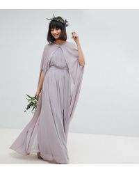 TFNC London - Chiffon Maxi Cape Cover Up - Lyst