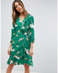 Y.A.S - Printed Frill Dress - Lyst