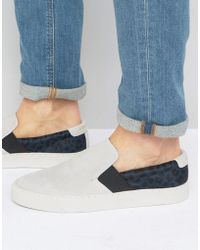 Religion - Jamie Suede Slip On Trainers - Lyst