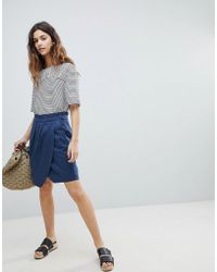 Soaked In Luxury - Paperbag Waist Wrap Skirt - Lyst