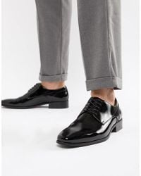 ALDO - Bussum Lace Up Shoes In Patent Black - Lyst