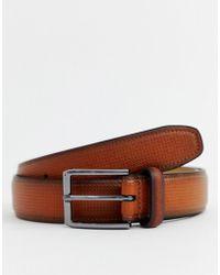 Ben Sherman - Textured Belt In Brown - Lyst