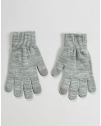 Pieces - Touch Screen Knitted Gloves - Lyst