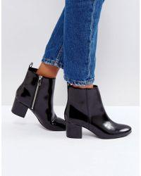 105850da19ab0 Monki - Zip Detail Ankle Boots - Lyst