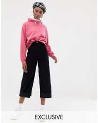 Reclaimed (vintage) - Inspired Cropped Cord Trouser - Lyst