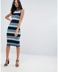 A State Of Being - Stripe Midi Dress - Lyst