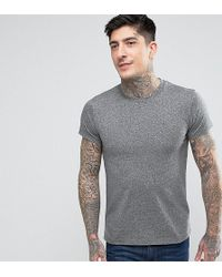 Farah - Twisted Yarn Marl T-shirt Exclusive In Grey - Lyst
