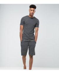 ASOS - Tall Pyjama Set With Stripes - Lyst