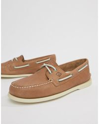 Sperry Top-Sider - Topsider Daytona Boat Shoes In Tan - Lyst