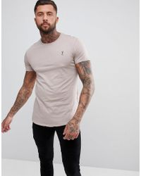 Religion - Longline T-shirt In Ash Pink - Lyst