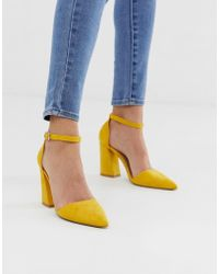 Glamorous - Pointed Heeled Shoes In Bright Yellow - Lyst