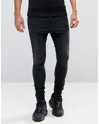 Illusive London - Hareem Jeans In Black Super Skinny Fit - Lyst