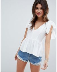 ASOS - Design Relaxed Cami With Tie Shoulder - Lyst