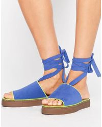 Clover Canyon - Tie Leg Sandals - Lyst