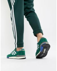 6764942511c8 Lyst - adidas Originals Gazelle Super Sneakers In Green By9778 in ...