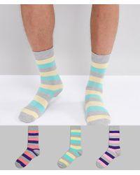 ASOS - Socks In Retro Stripes 3 Pack - Lyst