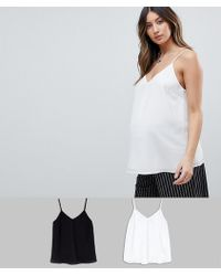 ASOS - Asos Design Maternity Swing Cami With Double Layer 2 Pack - Lyst