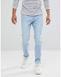 Mango - Man Slim Jean In Light Wash - Lyst