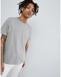Pull&Bear - Join Life Organic Stripe Cotton T-shirt In Grey - Lyst
