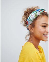 Monki - Printed Beach Headband In Parrot Print - Lyst