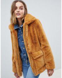 Barneys Originals Faux Fur Coat