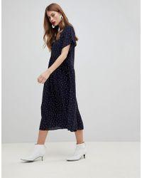 Y.A.S - Polka Dot Smock Dress - Lyst