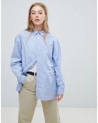 Carhartt WIP - Oversized Boyfriend Shirt In Pin Stripe - Lyst