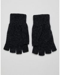 Glen Lossie - Lambswool Fingerless Gloves - Lyst