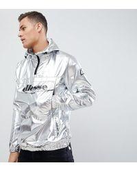 Ellesse - Overhead Jacket In Silver - Lyst
