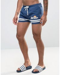 Ellesse - Printed Stripe Swim Shorts In Navy - Lyst