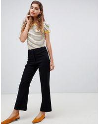 Monki - Straight Leg Tailored Pants In Black - Lyst