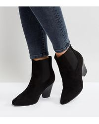 New Look - Pointed Western Heeled Ankle Boot - Lyst