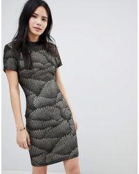 Soaked In Luxury - Metallic Pattern Bodycon Dress - Lyst