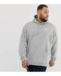 bd4fd86f70b Abercrombie & Fitch Sleeve Logo Hoodie In Gray Marl in Gray for Men - Lyst