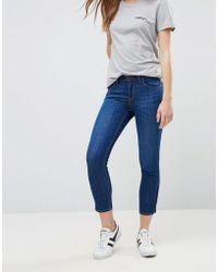 Lee Jeans - Lee Scarlett Mid Rise Slim Cropped Jeans - Lyst