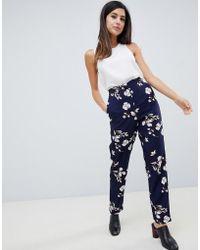 Vila - Floral Suit Pants - Lyst