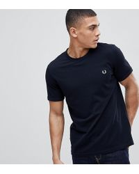 5ef446af4b01 Fred Perry Plain Polo Shirt In Black Exclusive At Asos in Black for Men -  Lyst