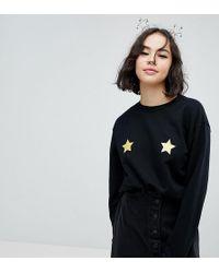 Monki | Christmas Star Sweatshirt Jumper | Lyst