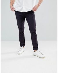 Ted Baker - Slim Fit Chino In Navy - Lyst