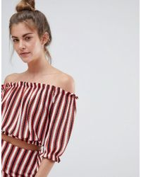 Pull&Bear - Stripe Top With Matching Skirt In Multi - Lyst