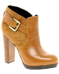Sam Edelman - Lulu Leather Ankle Boot With Buckle - Lyst