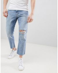 Just Junkies - 90's Fit Cropped Jeans - Lyst