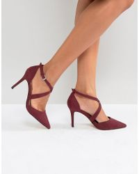 Carvela Kurt Geiger | Cross Strap Pointed Heeled Shoe | Lyst