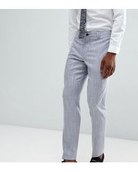 bce1c5431c12f0 Noak Tapered Suit Pants In Stripe in Blue for Men - Lyst