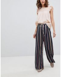 Suncoo - Wide Leg Striped Pants - Lyst